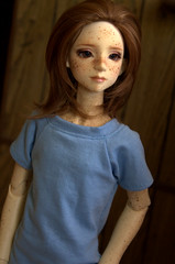 IMG_9202 (AlisonVonderland) Tags: boy brown cute doll natural sweet girly luke redhead teen bjd freckles trans custom queer abjd genderqueer freckled androgynous faceup happydoll