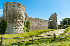 Pevensey Castle (Keith in Exeter) Tags: pevensey castle tower moat wall fort fence outdoor arrowslit sussex england english norman heritage history ruins