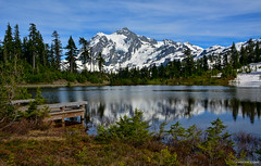Picture Lake, Mt. Shuksan, Heather Meadows Recreation Area, Washington, ( Peterson Photogr@phy) Tags: forest snowscape snoqualmienationalforest