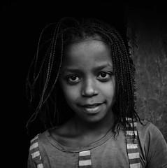 Wolayta Girl, Ethiopia (Rod Waddington) Tags: africa portrait people blackandwhite girl monochrome female outdoor african traditional tribal afrika ethiopia tribe ethnic sodo ethnicity afrique ethiopian thiopien etiopia ethiopie etiopian wolayta saware wollaita