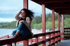 Casie (Alison DaSilva Photography) Tags: portrait blackandwhite green beach nature beautiful model eyes nikon warm bokeh modeling newengland windy sunny rhodeisland portraiture curlyhair goldenhour warmtones nikond3300