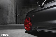 "Mustang GT on 20"" Savini BM11 Brushed Red Wheels (vibemotorsports) Tags: red ford mustang gt motorsports brushed vibe savini s550 bm11 vibemotorsports"