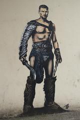 Gladiator (unborn_tiger) Tags: street streetart art wall bristol fight stencil fighter streetphotography streetphoto lifesize gladiator