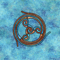 spiral (chrisinplymouth) Tags: abstract art geometric square spiral design artwork pattern image symbol geometry digitalart trumpet symmetry celtic curl coil whorl celticspiral spirality cw69x cw69sym