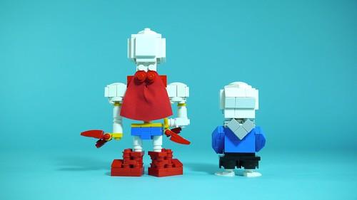 LEGO Undertale Sans & Papyrus - a photo on Flickriver
