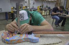 (Intraktable) Tags: wood building college students stain wheel shop architecture oregon writing project neck stem paint bend guitar body room board glue text indoor spray redmond teachers fret signboard drill bansaw guitarbuildingorg