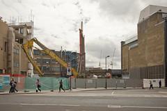 Southwark Street (Gary Kinsman) Tags: london se1 southwark digger soutwarkstreet canon5d canon1740mmf4l 2011 demolition urban urbanlandscape gap warehouses development redevelopment