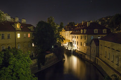 20160721_F0001: Household waterwheel (wfxue) Tags: old city longexposure windows light shadow sky house reflection building history tourism water wheel architecture night river town czech prague tourists structure round historical waterwheel