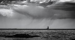 Wood Island Lighthouse (Rodney Harvey) Tags: lighthouse maine wood island weather shower darkness infrared ocean sea desolate atlantic kittery
