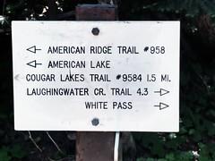 IMG_20160726_214940 (benjamin scott) Tags: american lake ridge trail 958 cougar lakes 9584 15 mi laughinwater cr 43 white pass sign