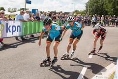 2016-07-30 EK Skeeleren Steenwijk (77a) (Peter Donderwinkel) Tags: ekskeeleren2016steenwijk inlineskating seniorladies junioraladies ek klimvansteenwijk schaatsennl kpn skeeleren outdoor sport event speed race canon