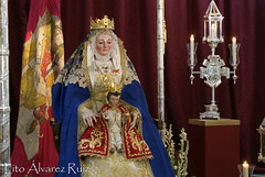 Besamanos - Virgen de los Reyes (Sastres) - Agosto 2016 (Manuel Francisco lvarez Ruiz) Tags: virgen nuestra seora mara santsima imagen gloria reyes sentada asuncion hdad cofrada sevilla lito cultos fotografas
