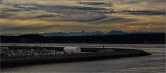 Cloudy Morning (RiverBearPhoto) Tags: canada british columbia campbell river vancouver island harbor marina discovery bay mount doogie dowler breakwater cloudy