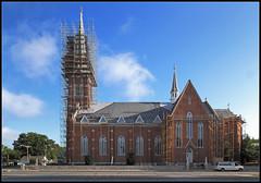 Dominating the Neighborhood (ioensis) Tags: dominating neighborhood saint st francis catholic church quincy illinois jdl ioensis 83400671bjohnlangholz2016 steeple scaffolding renaissance roofing