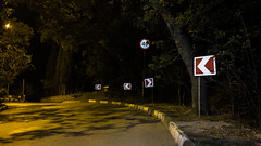 Nonconformist (pozzhe) Tags: gurzuf night flare crimea road roadsign