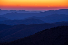 Smoky Mountain Layers (K. Stewart) Tags: clingmansdome gsmnp greatsmokymountainsnationalpark greatsmokymountains smokies smokymountains tennessee northcarolina easttennessee mountains outdoors nature sunset canon canon6d canon70200mm