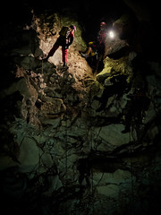 Cili Padi Cave - The Descent (Ashraf.Rafdzi) Tags: fujifilm x20 dark darkness cave caver caving descent underground safety singleropetechnique shadow highlight exploration spelunking extremesports outdoor srt
