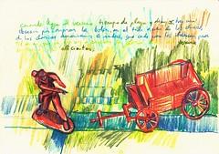 PROYECTO 132-61 (GARGABLE) Tags: angelbeltrn apuntes sketch lpicesdecolores drawings proyecto 132 64 todo varios variado dibujos gargable playa gente siesta sanjuan