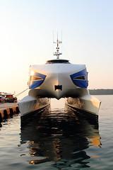 A rather unworldly looking ferry (Chris Firth of Wakey.) Tags: catarmaran rovinj istria croatia boat
