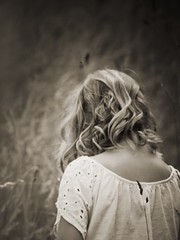 Content  (heidikesteloot) Tags: faceless field blond hair girl child photography mextures monochrome portrait