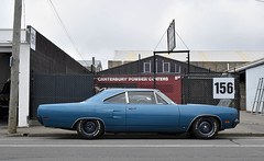 1970 Plymouth Road Runner (stephen trinder) Tags: stephentrinder stephentrinderphotography christchurchnewzealand christchurch thecarsofchristchurch nz newzealand aotearoa kiwi landscape 1970 plymouth roadrunner coupe custom blue usa america americancars