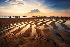 Semawang Beach Bali (KembaraAlam) Tags: semawangbeach pantaisemawang semawang bali indonesia pattern cloud sand beach pantai texture sunrise dawn discover landscape photography photohunt phototravel seascape scenery canon canonasia reflection kembaraalam