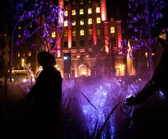 Smog-scene (Alan McCollough) Tags: halloween cityhall hotel de ville smog pink breastcancer