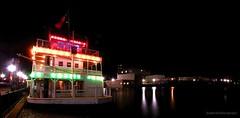 like a wagon wheel (jhumbrachtphotography) Tags: wheel night river wagon flat michigan showboat lowell