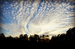 Romantic sky at Staunton River State Park