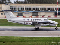 Private --- Hawker Beechcraft B200 King Air --- F-HEAL (Drinu C) Tags: plane private aircraft sony panning dsc mla kingair b200 lmml hawkerbeechcraft fheal hx100v adrianciliaphotography