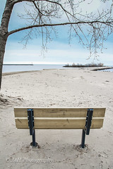 The Quiet Stare (jah32) Tags: lake ontario canada beach water port bench harbor nikon lakeerie harbour lakes greatlakes beaches atthebeach parkbench harbours poc portstanley thegreatlakes d7100
