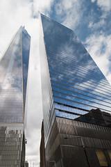 2014-11 New York City (116) (roolmapool) Tags: world new york city reflection canon buildings cloudy manhattan ground center skyscrappers reflet ciel nuages trade zero contre plonge vitres 10mm 70d gratteciels