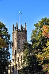 St John's, Princes Street, Edinburgh (Colin Myers Photography) Tags: old blue autumn church st clouds scotland town warm edinburgh skies cloudy scottish princesstreet sunny bluesky oldtown johns autumnal stjohnsedinburgh
