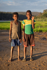 Boys on the shore of Manambolo - Madagascar - July, 2014
