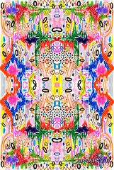 Because of you (Sandra Rede) Tags: abstract art design pattern arte drawing textile doodle sharpie abstracto markers patterndesign sandrarede