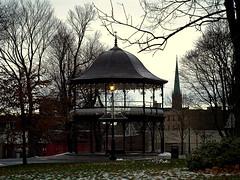 0008705 (Shakies Buddy) Tags: christmas street decorations canada lamp bells post nb bandstand kingssquare saintjohn refurbished nbphoto ©allrightsreserved refurbishedkingssquarebandstand