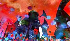 Sunset little town / Artist : Cica Ghost (Bamboo Barnes - Artist.Com) Tags: light shadow flower building art texture painting photo place digitalart surreal sl secondlife installation sim steampunk cicaghost bamboobarnes