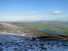 Loch Kindar and the River Nith from the NE flank of Criffel (David McSporran) Tags: snow mountains marilyn scotland scottish criffel marilyns hillwalking dumfriesandgalloway solwayfirth nithestuary