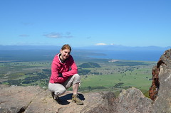Anais, le lac Taupo, les montagnes