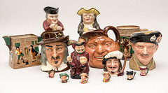 A Collection of Toby and Character Jugs