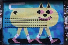 Malarky_1419 Brick lane Londres (meuh1246) Tags: streetart london chat shoreditch londres animaux bricklane malarky rideaumétallique malarko