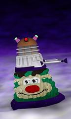 Getting into the Spirit (krapzapper) Tags: christmas xmas newzealand snow strange stars weird pentax humor humour odd nz jersey jumper drwho dalek exterminate k3 knitwear krapzapper