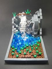Waterfall ([E]ddy) Tags: plant fall water rock waterfall lego gras moc legoplants legplant