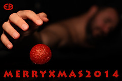 ... MERRYXMAS2014 (*melkor*) Tags: christmas light red portrait selfportrait cold art self dark geotagged shadows dof hand postcard experiment minimal conceptual merrychristmas graphicwork glassball melkor freepostcard trashbit xmas2014