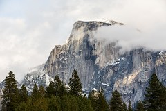 Removing the Veil (Kirk Lougheed) Tags: california snow clouds landscape nationalpark yosemite halfdome yosemitenationalpark yosemitevalley clearingstorm
