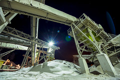 Quarry 3 (BurnThomas) Tags: winter moon snow station rock belt rocks angle space wide belts sigma conveyor ultra quarry hdr crushed 816mm