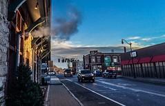 Winter Morning, Framingham MA (JulyRiver) Tags: morning winter sky station train town downtown photostream framingham