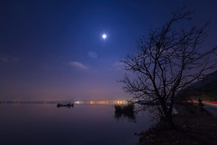 Serenity [explored 12-12-2014] (ChrisBrn) Tags: winter moon mist lake night fullmoon