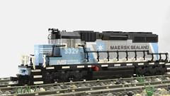 NS SD40-2 MAERSK SEALAND (kaipi89) Tags: train lego sealand maersk emd sd402