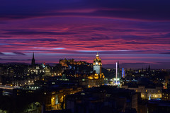 Edinburgh Twilight 20th December 2014 (Colin Myers Photography) Tags: christmas pink sunset sky colin clouds photography scotland edinburgh colours purple awesome hill scottish epic caltonhill calton myers gloaming edinburghchristmas twiight edinburghtwilight colinmyersphotography scottishtwilight